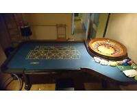 John Huxley Roulette Wheel and Table (Chips included)