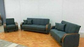 🤘🏻💓2020 HUGE SALES TURKISH DESIGN FABRIC STORAGE SOFA BEDS SETTEE BLACK BROWN GREY SOFABED