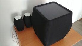 Monitor Audio Mass 5.1 home cinema speaker system like new and genuine wall brackets.