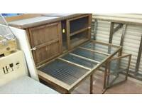 Rabbit hutch and run combined 5ft long