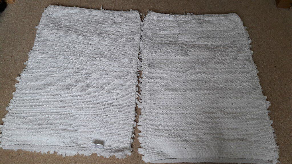 2 White Washable Rag Rugs 5 For The Two In Axminster Devon Gumtree
