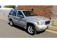 2003 Jeep Grand Cherokee 100k Auto 4.7 V8 Overland Quadra-Drive