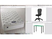 AMAZING brand new Furniture for selling :) !! Mattress, chair, Shelve and desk at a nice price !!