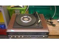 vintage turntable with radio