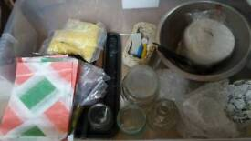Candle Making bits. Beeswax, moulds, wicks etc