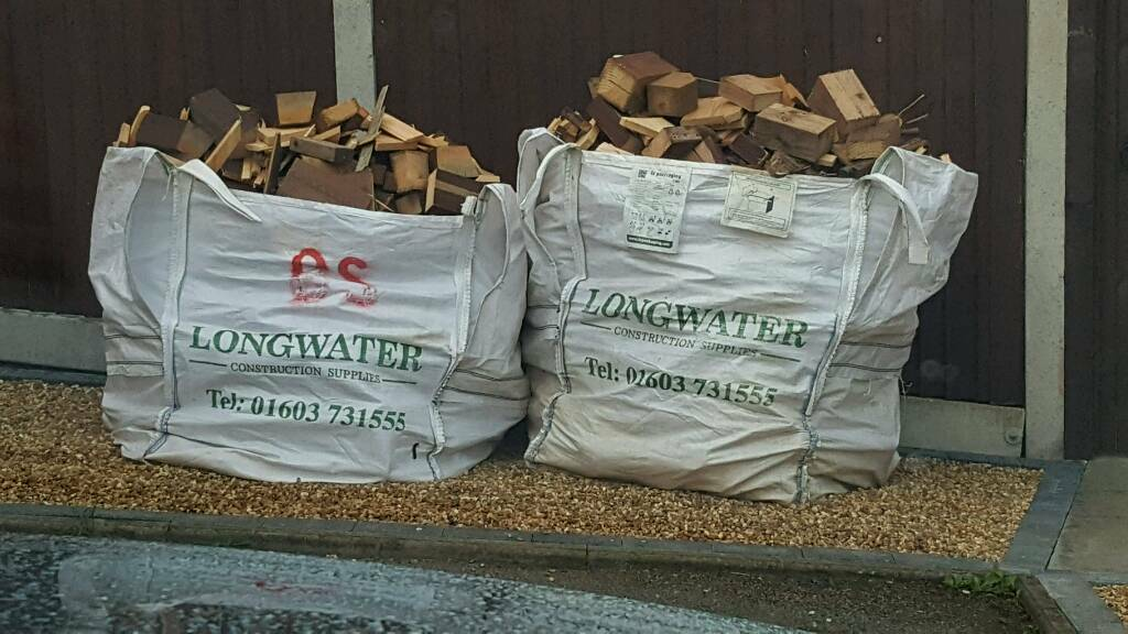 Wood/Split Logs, Ideal log burner or open fires40 Per Ton Bag, Collection Onlyin Costessey, NorfolkGumtree - Wood/Split Logs, Been covered up and was sawn and split April 16..Ideal for log burner or open fires. £40 Per Ton Bag, Collection Only..Please Call or Text Only... Thank You