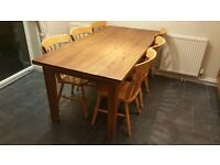 Natural Solid Oak Dining Table - (purchased for over £500)