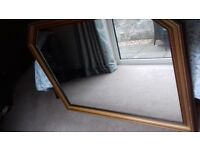 Large, overmantle wall mirror