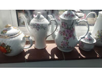 Mixed vintage/vintage style tea sets - cups, saucers, plates - ideal for weddings or tea shops