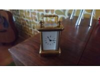 Small solid brass carrage clock