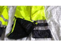 Mens Hi Viz Jacket - Large Parka style and trousers