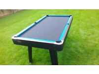 Keep everyone entertained over Xmas! Harvard pool table with cues and balls/cover