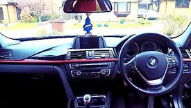 Black on red leather bmw 320D DSport