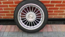 5 X ALMOST NEW ALLOY WHEELS & TYRES
