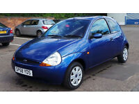 2008 58 FORD KA STYLE 1.3 30K BLUE (CHEAPER PART EX WELCOME)*** IDEAL FIRST CAR ***