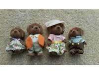 Sylvanian Families Rare Hunter Smyth Chocolate Labrador Family, Excellent Cond.