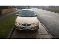 Rover 25 . 1.4 petrol . 2000 . Hatchbach. 270 ono.
