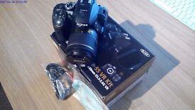 Nikon D5300 24MP DSLR Camera with 18-55mm VR Lens - Mint Condition