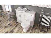 Vanity unit and toilet set