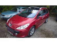 Peugeot 307 SW S HDI estate ,2007-57-reg, 2000cc turbo diesel, 113,000 miles, new MOT,