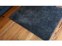 Charcoal shag pile rug grey rug