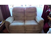 2 Seater Sofa, Double recliner, only 5 Years old
