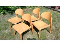 Solid wood chairs (4)