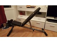 Gym Bench - Never used adjustable and foldable.