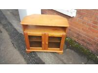 Solid pine wood tv cabinet £25 delivered free within belfast.