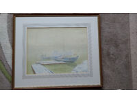Water Colour by Roy Anderson ( Reykjavik Harbour 1943)