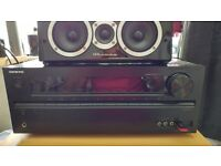 Onkyo amp receiver+wharfedale 5.1