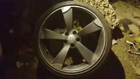"""19"""" 5x112 Audi Rotors POLISHED ALLOY WHEELS VW AUDI GOLF MK5 A3 A4 A5 A6 A7 TT"""