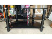 Glass TV Stand (black)