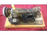 SINGER ELECTRIC SEWING MACHINE JONES POWERS BUT NEEDS ATTENTION TO RUN PROPERLY AVAILABLE FOR SALE