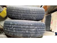 berlingo wheel with tyres pair 165/70 r14