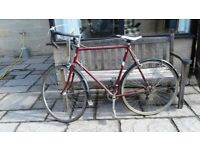 Gents Puch road bike, in good condition.Large frame, alloy wheels and a new saddle. £40.
