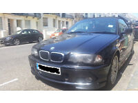 2002 BMW E46 330 CONVERTIBLE auto black perfect for summer grey leather XENONS MOT Aug 2017 LPG