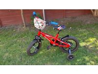 MX Kawasaki Childs bicycle with stabilisers