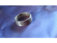 1962 2 shilling coin ring