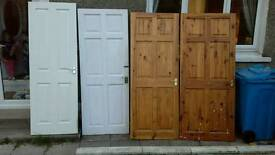 Various sized internal doors