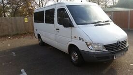 Mercedes Sprinter 208D Minibus MWB; not Iveco Daily; Toyota Hiace or Ford Transit