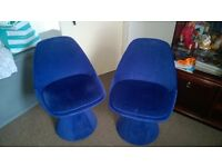 pair of funky retro chairs