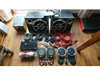 JVC DVD DAB Bluetooth VIBE full car audio system component speakers amp subs Power cap wiring