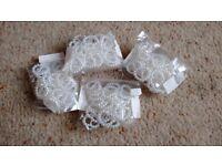 100 pearl heart ribbon buckles