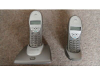 BT Freestyle 3200 Twin. Digital Cordless land line, base phone plus extra handset - complete.