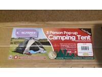 Kingfisher 3 Man Pop Up tent Brand New