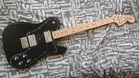 Fender 72 Telecaster Deluxe electric guitar (black)
