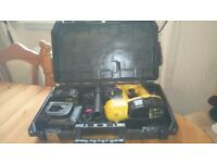Used Dewalt DC212 cordless 18 v SDS drill set in box, GWO, please see photos & details
