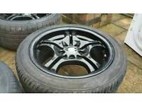 "17"" BMW msport alloys with tyres"
