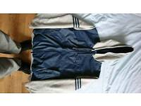 Mens Adidas Hoody. Size M. Grey and navy blue.